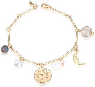 Eye Candy Los Angeles Capricorn Natural Stone Charm Bracelet