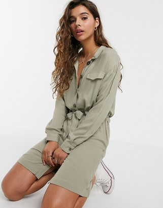 Cotton On Cotton:On Woven Elle long sleeve t-shirt dress