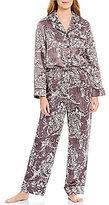 Cabernet Damask Satin Pajamas