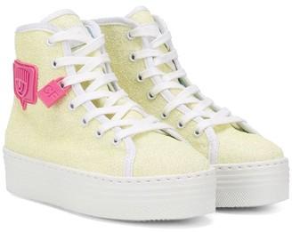 Chiara Ferragni Kids Platform Eye Patch Sneakers