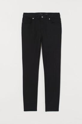 H&M Slim Fit Twill Pants - Black