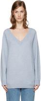 Alexander Wang Blue V-Neck Sweater