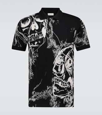 Alexander McQueen Skull printed polo shirt