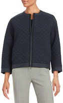 Lafayette 148 New York Quilted Zip-Up Jacket