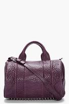 ALEXANDER WANG Dark Purple Leather Rocco Studded Duffle Bag
