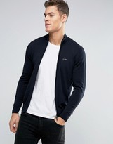 Armani Jeans Zipthru Knit Cardigan Regular Fit in Navy