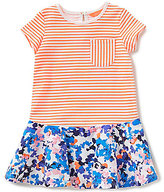 Joules Baby/Little Girls 12 Months-3T Jessica Striped/Floral-Printed Dropwaist Dress
