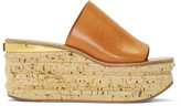 Chloé Brown Camille Wedge Mules