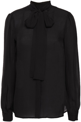 MICHAEL Michael Kors Pussy-bow Silk-chiffon Shirt