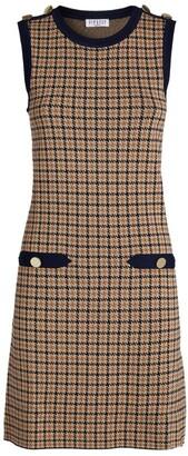 Claudie Pierlot Houndstooth Mini Dress