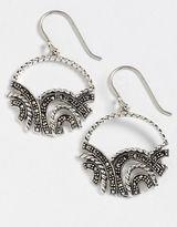 Lord & Taylor Sparkly Hoop Earrings