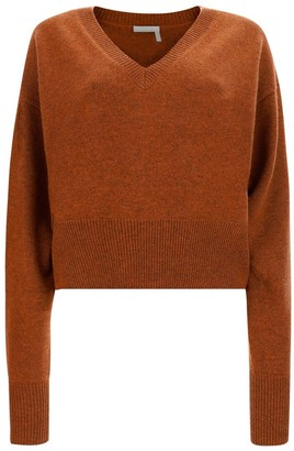 Chloé V-Neck Knit Sweater