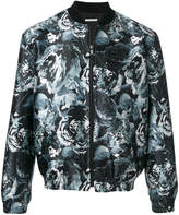 Paul & Joe floral leopard bomber jacket