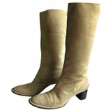 Bally Beige Suede Boots