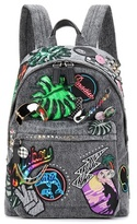 Marc Jacobs Paradise Biker denim appliqué backpack
