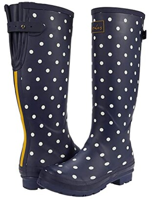 Joules Welly Print (French Navy Spot) Women's Rain Boots