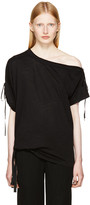 Ann Demeulemeester Black Carrie Off-the-shoulder T-shirt