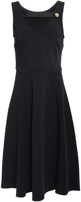 Prada Cutout Satin-trimmed Ponte Dress