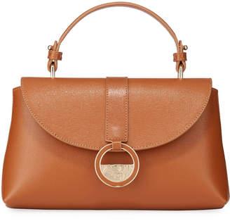 Versace Saffiano Top-Handle Satchel Bag, Saddle