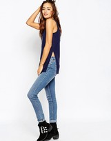 Asos The Scoop Neck Tank In Slouchy Rib With Side Splits