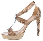 Anya Hindmarch Snakeskin Cage Sandals