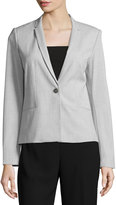 T Tahari Hadar Stretch-Knit Jacket, Gray/Black