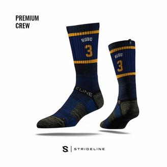 Strideline NBA Utah Jazz Ricky Rubio Jersey Premium Athletic Crew Socks One Size