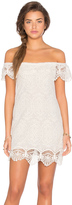 Nightcap Clothing Seashell Lace Off Shoulder Dress