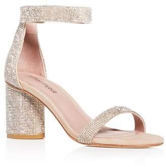 Jeffrey Campbell Women's Laura-JS Embellished Block-Heel Sandals
