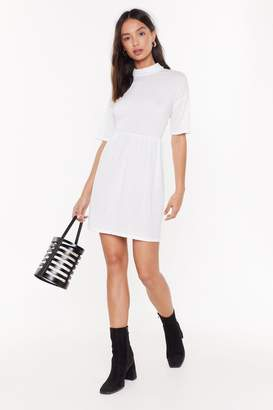 Nasty Gal Womens Living The High Life Fit & Flare Dress - White - 12