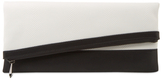 BCBGMAXAZRIA Asymmetrical Foldover Clutch