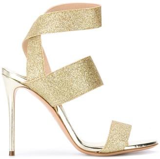 Casadei Open Toe Glitter Detail Sandals