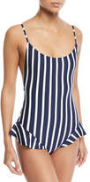 Milly Bondi Vertical-Stripe One-Piece Swimsuit