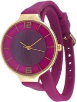 JCPenney TKO ORLOGI Womens Purple Silicone Strap Wrap Watch