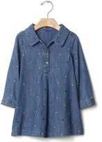Gap 1969 Embroidered Chambray Dress