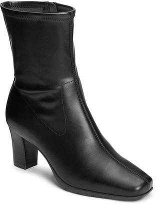 Aerosoles Tailored Stacked-Heel Boots - Cinnamon