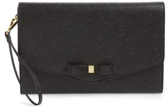 Ted Baker Krystan Bow Leather Envelope Clutch