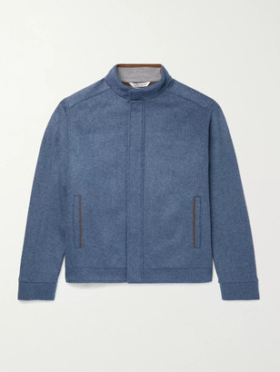 Peter Millar Crown Flex-Fleece Padded Merino Wool Bomber Jacket