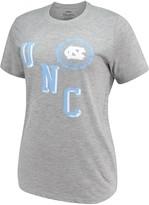 Unbranded Women's Pressbox Heathered Gray North Carolina Tar Heels Sundown Tri-Blend T-Shirt