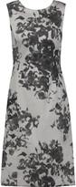 Oscar de la Renta Floral-printed twill dress