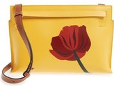 Loewe 'Fiore' Marquetry Calfskin Leather Crossbody Clutch