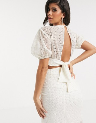 Significant Other malia broderie blouse