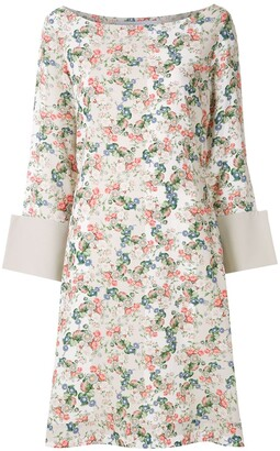 Gloria Coelho Floral Print Dress