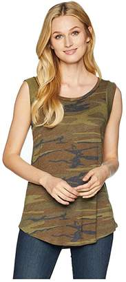Alternative Cap Sleeve Printed Eco-Jersey Crew T-Shirt (Camo) Women's Clothing