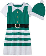 It's Our Time IT S OUR TIME Fashion Avenue Short-Sleeve Green Elf Sweater Dress - Girls 7-16