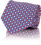 Battistoni Men's Micro-Medallion-Pattern Necktie-NAVY