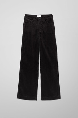 Weekday Livia Cord Trousers - Black