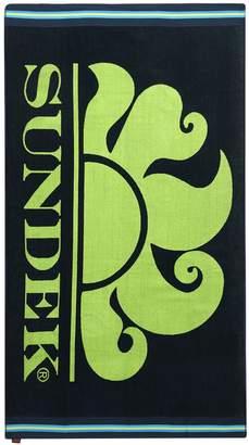 Sundek Logo Print Cotton Terry Beach Towel