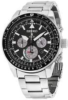Seiko SSC629 Stainless Steel with Black Dial 45mm Mens Watch