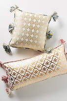 Anthropologie Gilded Lattice Pillow